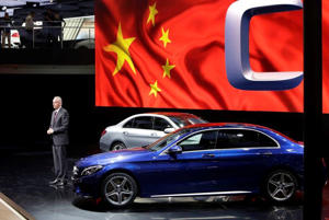 Hubertus Troska, Daimler board member responsible for greater China, attends a world premiere ceremony for the new Mercedes Benz C-Class Long Wheelbase at Auto China 2014 in Beijing, in this April 20, 2014 file picture.