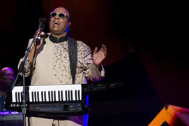 Stevie Wonder headlines NYC concert highlighting poverty
