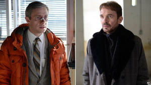Martin Freeman and Billy Bob Thornton in Fargo: Fargo stars Martin Freeman and Billy Bob Thornton are nominated in the same acting category