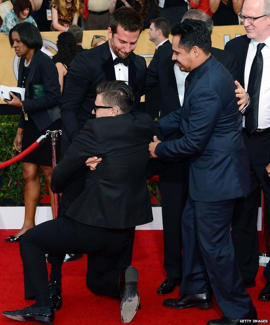 Vitalii Sediuk with Bradley Cooper at the SAG Awards: Sediuk forced a hug on Bradley Cooper at the SAG Awards