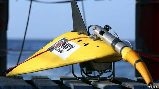 "File image of the towed pinger locator used to listen out for ""black box"" flight recorders"