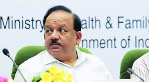 Government plans 10 new AIIMS, more cancer centres: Union Health Minister Harsh Vardhan in New Delhi on Thursday. (Source: Express photo by Amit Mehra)