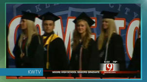 Somber graduation for Moore, Okla., high schoolers