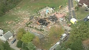Gas explosion levels house
