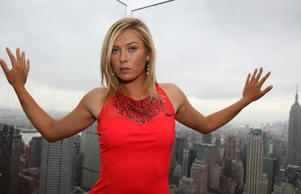 "<p xmlns=""http://www.w3.org/1999/xhtml"">Maria Sharapova poses on top of the Rockefeller Center after the press conference for ""Maria Sharapova and Nike Unveil New Performance Designs For Her U.S. Open Title Defense"" on Aug. 22, 2007 in New York.</p>"