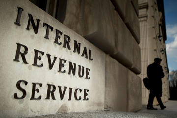 The Internal Revenue Service (IRS) headquarters strands in Washington, D.C., U.S., on Wednesday, April 9, 2014.