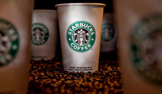 Starbucks Coffee cups and coffee