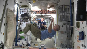 Astronauts Play Zero Gravity Game in Space to Celebrate World Cup