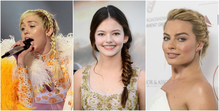 Diapositiva 1 di 22: As celebrities embrace the braids, the old school reputation clung to it has started to shake off. Here's a look at all the celebrities spotted with braids in the recent past.