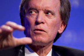 Bill Gross speaks during an alumni event hosted by UCLA Anderson School of Manag...