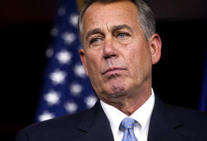 House Speaker John Boehner of Ohio listens during a news conference on Capitol Hill in Washington, Thursday, Nov. 6, 2014. Cliff Owen/AP
