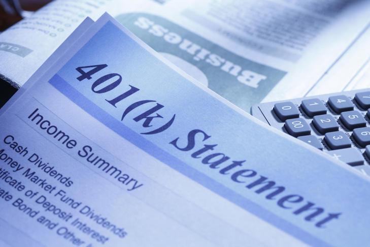 401k retirement account statement.