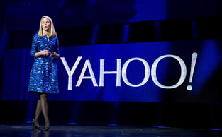 In this Jan. 7, 2014 file photo, Yahoo President and CEO Marissa Mayer speaks during the International Consumer Electronics Show in Las Vegas.