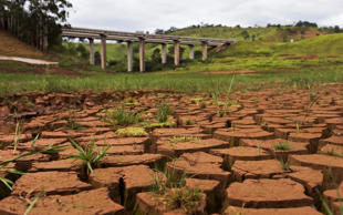 A view of the Cantareira reservoir, during a drought in Sao Paulo on Jan. 28, 2015. Sao Paulo, Brazil's drought-hit megacity of 20 million, has about two months of guaranteed water supply remaining as it taps into the second of three emergency reserves, officials say.