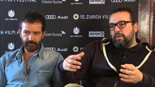 Automata: Antonio Banderas & Gabe Ibanez Exclusive Interview at Zurich Film Festival Part 1 of 1
