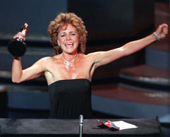 "Actress Sally Field accepts her Academy Award for best actress in the film ""Plac..."