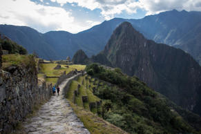 South America's most famous trek the Inca Trail in Peru is 33 km (20 miles) long laid down by the Incas thousands of years ago. Leading you from the Sacred Valley towards Machu Picchu, the cliff-hugging path offers you unforgettable views of ancient ruins, forests and snow-capped mountains.