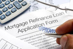 Approved mortgage refinance application form.