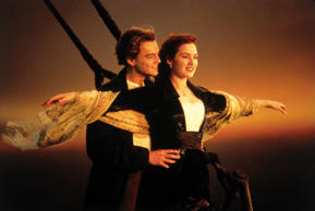 Actors: Kate Winslet and Leonardo DiCaprio Movie: Titanic Year: 1997