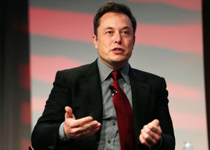 Tesla Motors CEO Elon Musk talks at the Automotive World News Congress at the Renaissance Center in Detroit, Michigan, January 13, 2015.