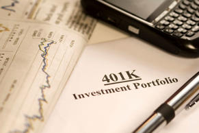 Macro of a 401k investment.  Getty Images