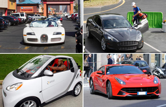 Folie 1 von 23: Athletes and their cool cars