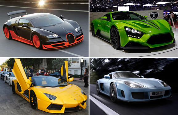 11 枚のスライドの 1 枚目: Ten Most Exciting Cars in the World 2015