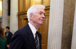 In this May 14, 2014, file photo, Sen. Thad Cochran, R-Miss. walks on Capitol Hill in Washington.