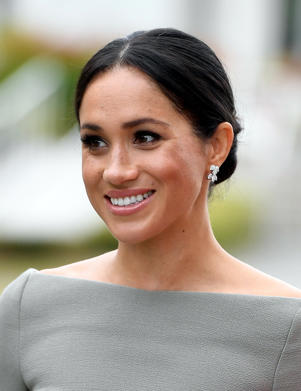 DUBLIN, IRELAND - JULY 11:  Meghan, The Duchess of Sussex seen during her visit to Ireland at Aras an Uachtarain on July 11, 2018 in Dublin, Ireland. (Photo by Andrew Parsons - Pool/Getty Images)
