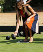 Watch: Melania cheered on as she plays bowls