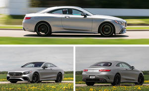 a car parked on the side of a road: Mercedes-AMG S63 Tested: One Super Coupe