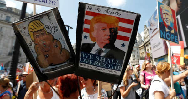 'Together Against Trump', thousands protest peacefully in London