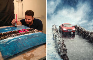 "Inspired by an image of a car in a waterfall on Instagram, 27-year-old Delhi, India-based photographer Vatsal Kataria came up with a novel idea to create ""outdoor"" scenes without needing to go out of the four walls of his studio. His methodology involves creating miniature sets that resemble outdoor locations, and then with the help of the camera, transforming these sets into breathtaking images."