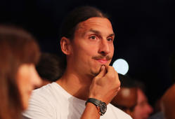 LONDON, ENGLAND - SEPTEMBER 10:  Manchester United footballer Zlatan Ibrahimovic looks on from ringside at The O2 Arena on September 10, 2016 in London, England.  (Photo by Richard Heathcote/Getty Images)