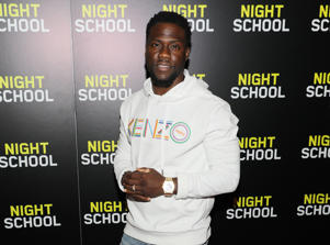 MIAMI, FL - SEPTEMBER 9: Kevin Hart is seen at the private screening for the film 'Night School' at CMX Brickell City Center on September 9, 2018 in Miami, Florida. (Photo by Alexander Tamargo/Getty Images for Universal Pictures)