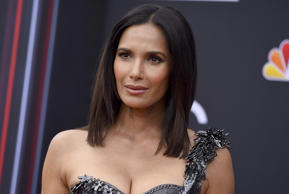 Padma Lakshmi arrives at the Billboard Music Awards at the MGM Grand Garden Arena on Sunday, May 20, 2018, in Las Vegas.