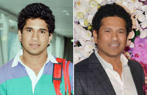 Sachin Tendulkar, first overseas signing for Yorkshire County Cricket Club, pictured arriving at London Heathrow Airport, 28th April 1992; Sachin Tendulkar and Anjali Tendulkar pose for a photograph at Akash Ambani & Shloka Mehta wedding party, in Mumbai.