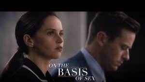 a close up of a man: Her story made history. Felicity Jones is Ruth Bader Ginsburg in #OnTheBasisOfSex – in theaters this Christmas. Watch the trailer now!  The film tells an inspiring and spirited true story that follows young lawyer Ruth Bader Ginsburg as she teams with her husband Marty to bring a groundbreaking case before the U.S. Court of Appeals and overturn a century of gender discrimination. The feature will premiere in 2018 in line with Justice Ginsburg's 25th anniversary on the Supreme Court.  http://www.onthebasisofsexmovie.com/ https://www.facebook.com/OnTheBasisofSex/ https://twitter.com/onthebasisofsex https://www.instagram.com/onthebasisofsex
