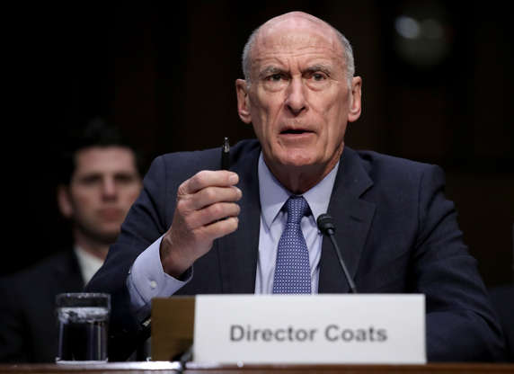 Slide 3 of 17: WASHINGTON, DC - MARCH 06:  Director of National Intelligence Daniel Coats answers questions during a hearing held by the Senate Armed Services Committee March 6, 2018 in Washington, DC. Coats and U.S. Army Lt. Gen. Robert P. Ashley, director of the Defense Intelligence Agency, testified on worldwide threats.   (Photo by Win McNamee/Getty Images)