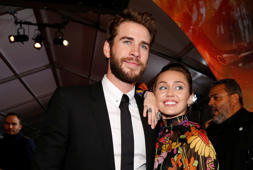World Premiere of Thor: Ragnarok - Los Angeles, California, U.S., 11/10/2017 - Liam Hemsworth and Miley Cyrus. REUTERS/Mario Anzuoni