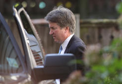 Supreme Court nominee Judge Brett Kavanaugh leaves his home September 19, 2018 in Chevy Chase, Maryland. Kavanaugh is scheduled to appear again before the Senate Judiciary Committee next Monday following allegations that have endangered his appointment to the Supreme Court.