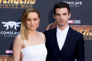 LOS ANGELES, CA - APRIL 23: Brie Larson and Alex Greenwald attend the 'Avengers: Infinity War' World Premiere on April 23, 2018 in Los Angeles, California. (Photo by Greg Doherty/Patrick McMullan via Getty Images)
