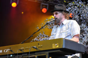 LONDON, UNITED KINGDOM - JULY 20: Charles Hodges of Chas & Dave performs on stage at the Kew The Music concert at Kew Gardens on July 20, 2014 in London, United Kingdom. (Photo by C Brandon/Redferns via Getty Images)