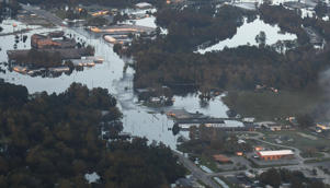 Areas of Kinston, N.C., are still under water late Friday, Sept. 21, 2018, as a result of Hurricane Florence. (Scott Sharpe/Raleigh News & Observer/TNS via Getty Images)