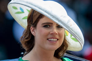 LONDON, ENGLAND - JUNE 09:  Princess Eugenie during Trooping The Colour 2018 on June 9, 2018 in London, England. (Photo by Mark Cuthbert/UK Press via Getty Images)