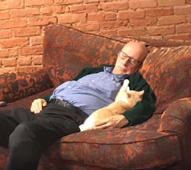 Snoozing 'Cat Grandpa' raises thousands after photos go viral