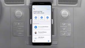 Hey Google, let's drive. Coming this summer on Android phones, the Assistant's new driving mode features a thoughtfully designed dashboard with personalized suggestions for navigation, messaging, calling and media.