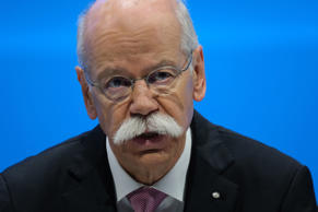 BERLIN, GERMANY - MAY 22: Dieter Zetsche, Chairman of Daimler AG, speaks at the annual Daimler AG shareholders meeting on May 22, 2019 in Berlin, Germany. Daimler has struggled with falling sales in its Mercedes-Benz unit and recently halted sales of its electric Smart car in the USA.  (Photo by Sean Gallup/Getty Images)