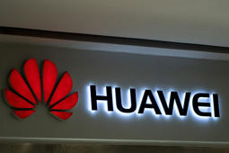 A Huawei logo is displayed at a retail store in Beijing on May 23, 2019. - Chinese telecom giant Huawei says it could roll out its own operating system for smartphones and laptops in China by the autumn after the United States blacklisted the company, a report said on May 23. (Photo by FRED DUFOUR / AFP)        (Photo credit should read FRED DUFOUR/AFP/Getty Images)