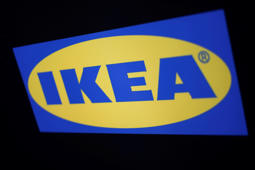 The logo of the Swedish furniture giant IKEA is seen in Mexico City, Mexico May 22, 2019. REUTERS/Edgard Garrido